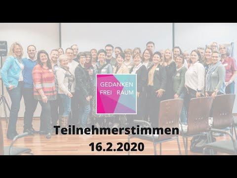 Teilnehmerstimmen GEDANKEN FREI RAUM 2020